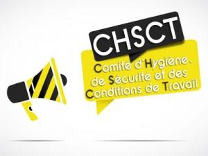 mégaphone jaune/noir : chsct